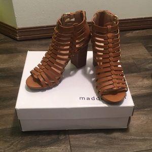 NWT Madden Girl Cognac Gladiator Heels